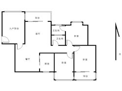 大学康城一期  带装修四房 275m 三个阳台 南北通透!