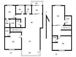 龙门天下 复式 现代风格精装 6房 中央空调