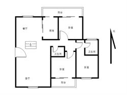 环岛路 小高层社区 户型方正 南北通透 直面看海景 3房2厅
