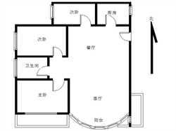 准电梯房,南北通透,精装修,BRT沿线,三房客厅带阳台
