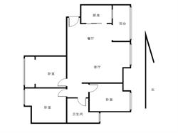 大学康城一期自住装正规三房 格局方正 高层看中庭 视野无遮挡