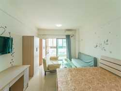 汇景新城中心1居大阳台独立卫浴有飘窗有厨房