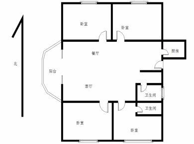 莲花商圈 嘉禾路 新华书店宿舍 刚需南北3房 不靠路