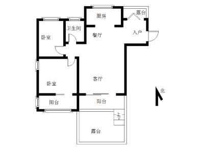 天湖城精装两房,带二个露台。