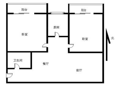 文灶商圈 银龙广场二期 电梯正规2房 双阳台 带小区