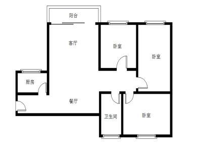 前埔北区二里 电梯高层 厅带阳台三房 通透户型 总价仅458